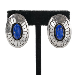 Sterling Silver Lapis Lazuli Earrings by Gene & Martha Jackson