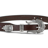 Sterling Silver & Leather Ranger Belt by Norman Woody