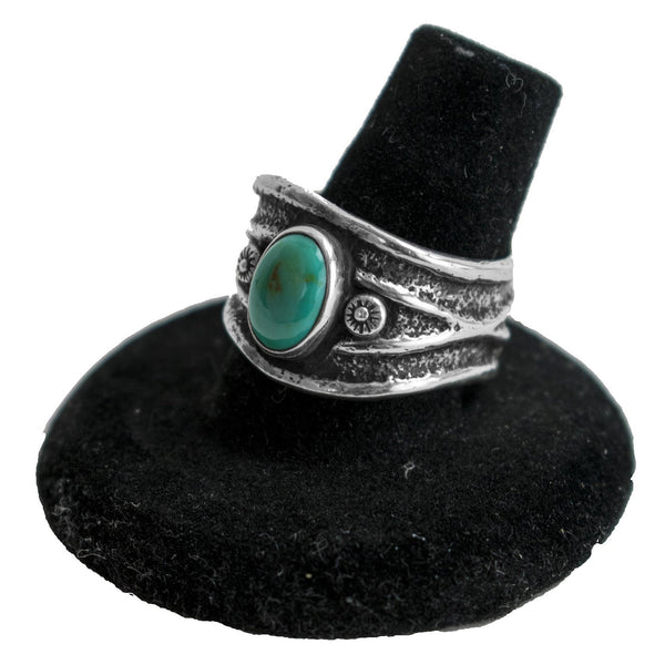 Sterling Silver & Turquoise Ring by Frank Platero (Size 8.5)