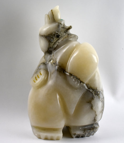 Alabaster Bear Sculpture