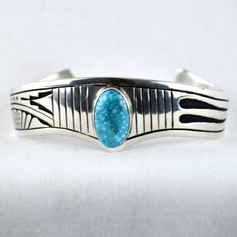 Sterling Silver Overlay Turquoise Bracelet