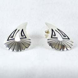 Sterling Silver Overlay Drop Earrings