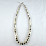 Sterling Silver Graduated Navajo Pearls Necklace