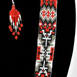 """Rug Pattern"" Beaded Narrow Necklace"