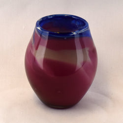 Blue & Rose Top Handblown Glass Vase