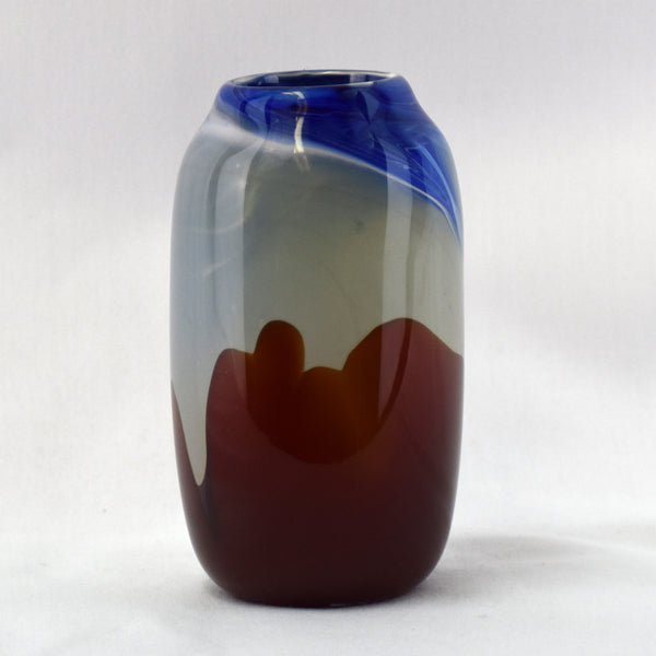 Narrow Handblown Glass Vase