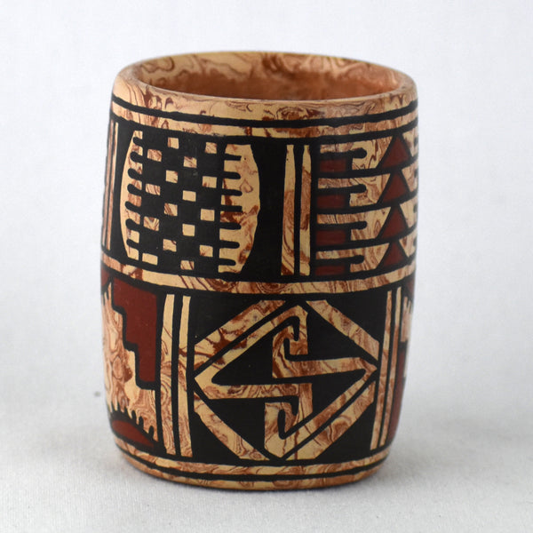 Small Cylindrical Polychrome Jar