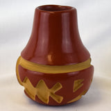 Red Incised Parrots Jar