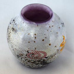 Small Petroglyph Handblown Glass Vase