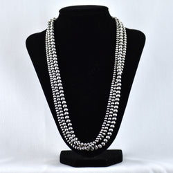 Sterling Silver Three Strand Multibead Necklace