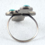 Oblong Four Teardrop Turquoise Ring