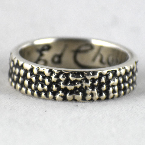 Tufacast Sterling Silver Ring