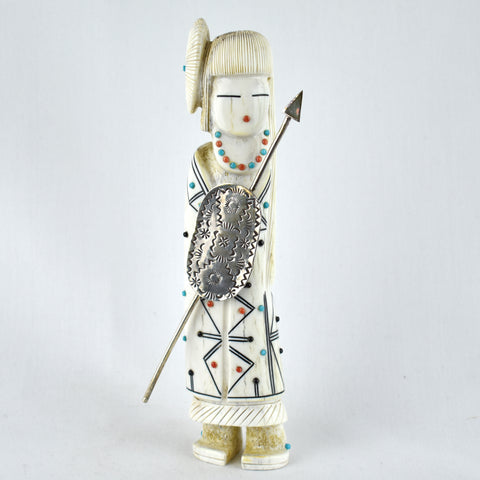 Elk Antler Warrior Maiden Fetish Carving