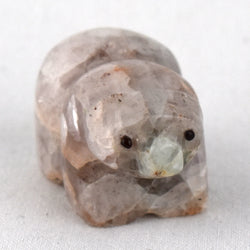 Fluorite Bear Fetish Carving