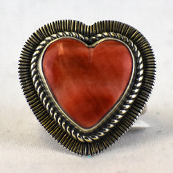 Sterling Silver Spondylus Heart Ring