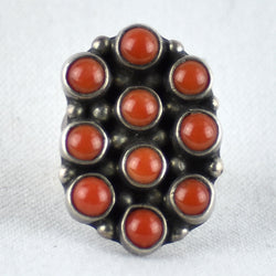 Vintage Coral Dotted Ring
