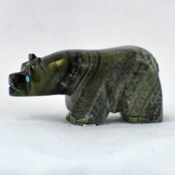 Small Serpentine Bear Fetish Carving