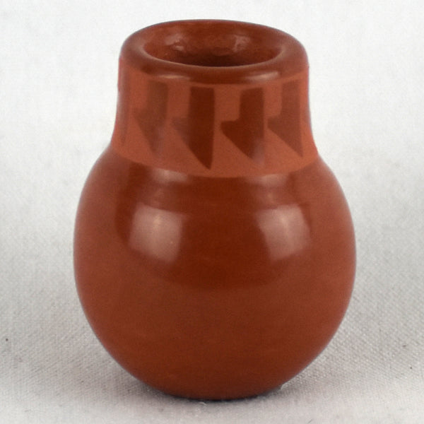 Miniature Red-on-Red Jar