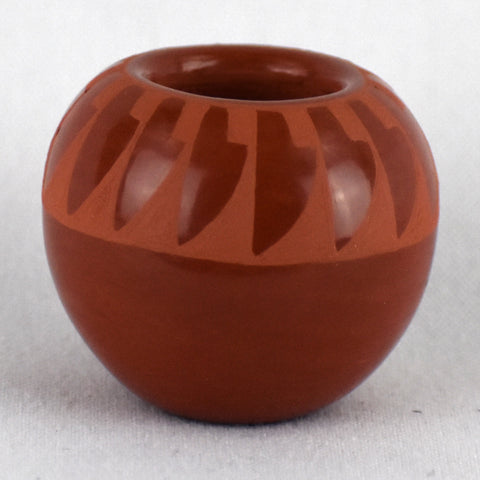 Miniature Red-on-Red Bowl