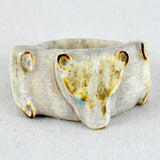 Three Bears Ring Fetish Carving