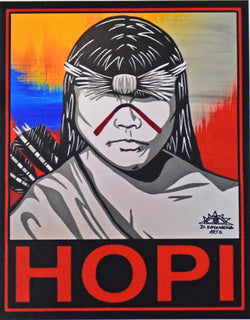 Hopi Sticker by Duane Koyawena