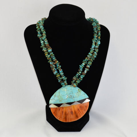 Inlay Spondylus Shell & Turquoise Necklace