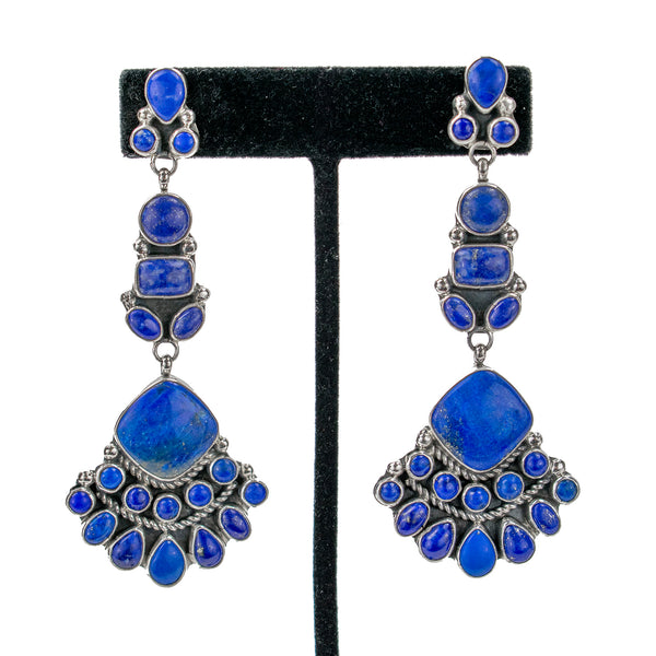 Lapis Lazuli Chandelier Earrings by Vernon & Clarissa Hale