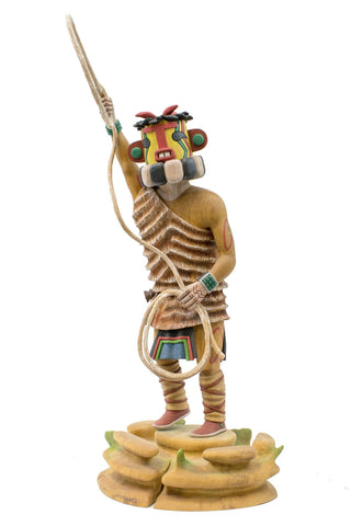 "Large ""Heheya"" Uncle Roping Katsina Doll"