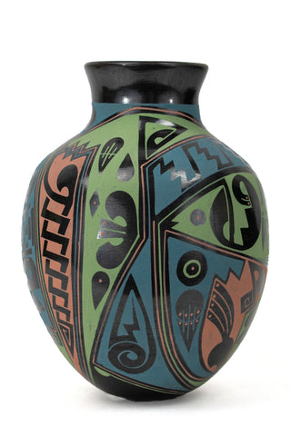 Black Polychrome Jar by Cesar N. Ortiz