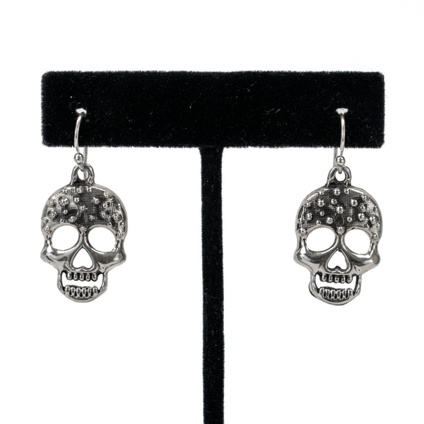 Spiked Skull Earrings by Shane Casias