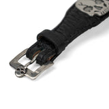 Leather Skulls Bracelet by Shane Casias