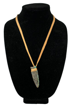 Natural Turquoise Arrowhead Necklace by Dominic Lovato