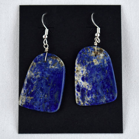 Lapis Lazuli Slab Earrings