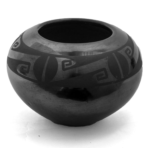 Duotone Bowl by Maria Martinez & Papovi Da (Includes Bronze Coin)