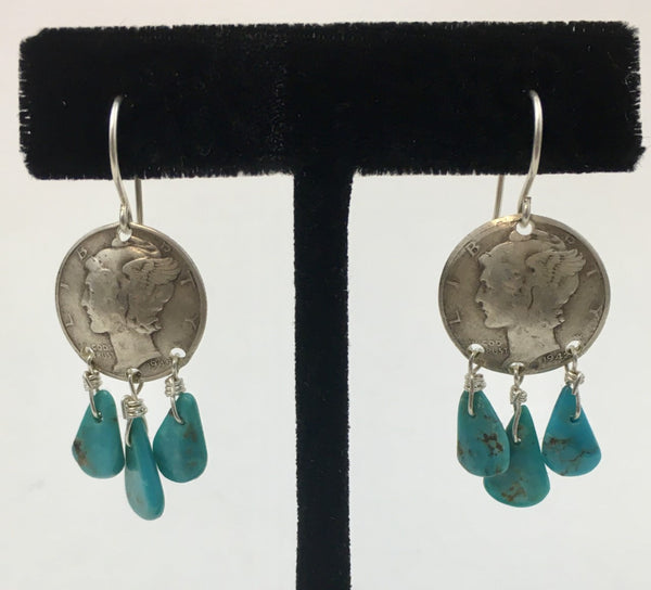 Small Chandelier Earrings by Jerilynn Yazzie