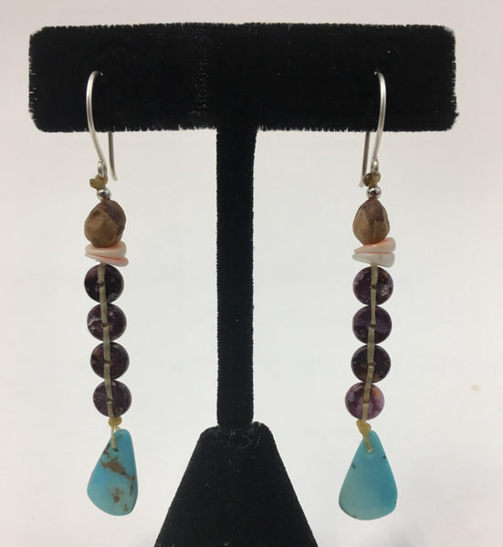 "Small ""Chakra"" Earrings by Jerilynn Yazzie"