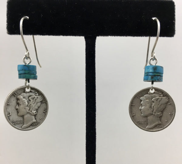 Coin Drop Earrings by Jerilynn Yazzie