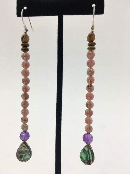 "Long ""Chakra"" Earrings by Jerilynn Yazzie"