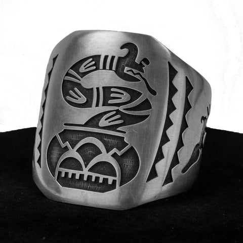 Water Serpent Cuff by Eldon James