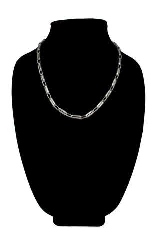 "12 Gauge 20"" Sterling Silver Chain by Loren Kootswatewa"