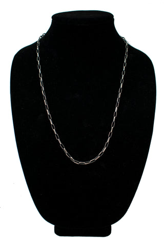 "24"" 18 Gauge Oxydized Chain by Loren Kootswatewa"