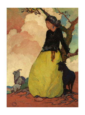 Navajo Shepherdess Giclee by Mary-Russell Ferrell Colton