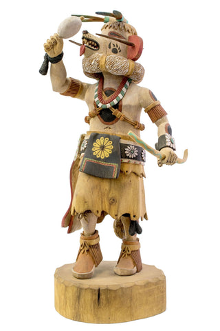 Qötsahònkatsina (White Bear Katsina) Doll by Robert Tewa