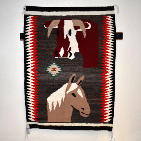Cow & Horse Pictorial Rug