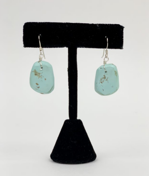 Turquoise Slab Earrings by Ray Lovato
