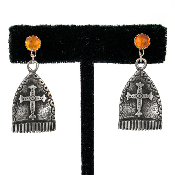 Cast Copela and Amber Earrings by Ralph Sena