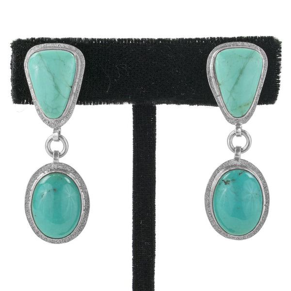 Kingman Turquoise Earrings by Ralph Sena