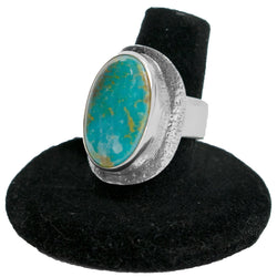 Kingman Turquoise Ring by Ralph Sena (Size 7.75)