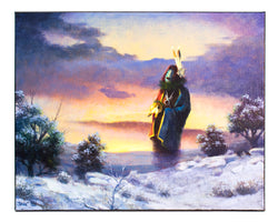 """Winter's Return"" Painting by Allen J. Bahe"