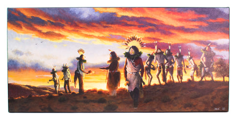 """Night of the Ceremonies"" Painting by Allen J. Bahe"